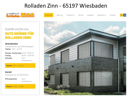 (c) Rolladen Zinn Wiesbaden